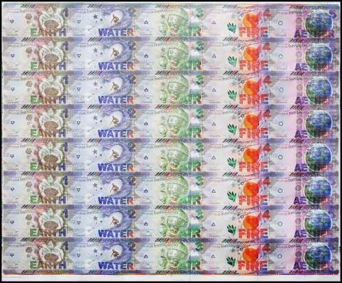 France States of Matter 40 Piece Uncut Sheet, Test Note