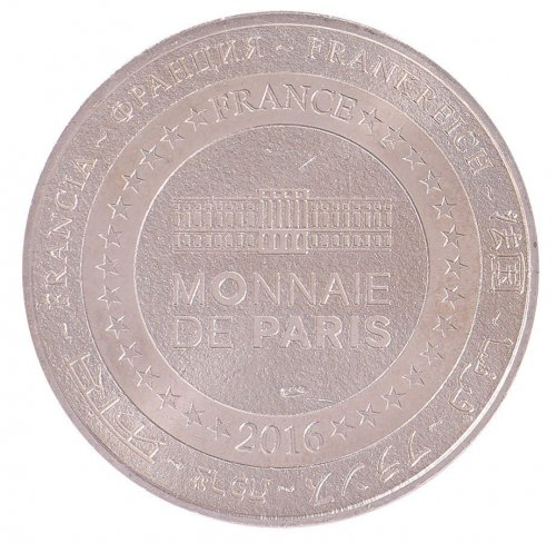 France Tourist Token, 17.5 g Cu-Aluminium-Nickel Coin,2016,World Money Fair,Mint