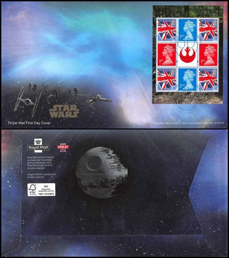 Great Britain Star Wars, 2015, First Day Cover, Royal Mail, Stamped Envelope