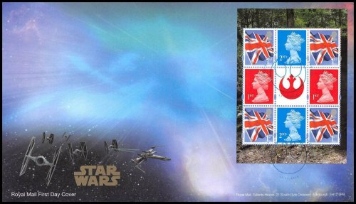 Great Britain Star Wars Prestige Stamp Book First Day Cover,2015,Edinburg Cancel