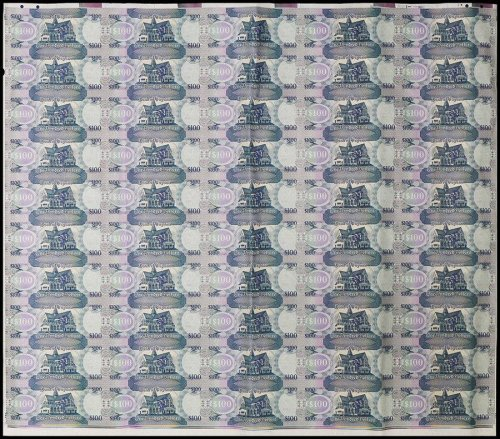 Guyana 100 Dollars, 2006, P-36, UNC, 50 Pieces (PCS), Uncut Sheet