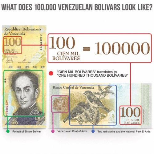 Venezuela 100,000 Bolivar Fuerte Banknote, 2017, P-100a, UNC, TAP Authenticated