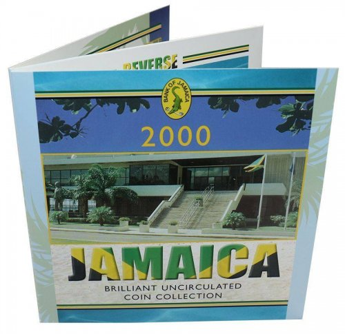Jamaica 1 Cent -  20 Dollars Nickel/Copper Plated Steel Full 7 PCS Coin Set,2000