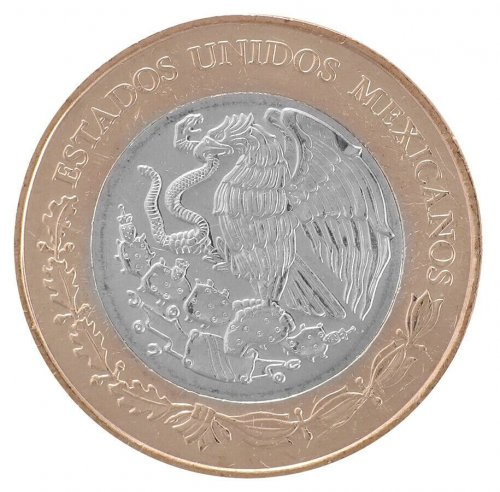 Mexico 20 Pesos 15 g Bi-Metallic Coin, 2016, Mint, 200th Anniversary Plan Marina