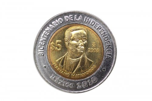Mexico 5 Pesos, 2008,KM#902,Mint,Bicentenary Independence Coin-Mariano Matamoros