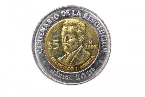 Mexico 5 Pesos, 2008,KM#905,Mint,Centenary Revolution Coin-Francisco Jose Mugica