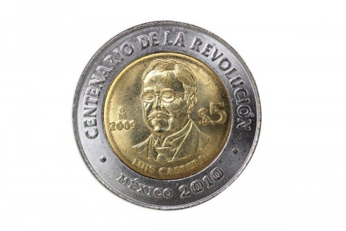 Mexico 5 Pesos, 2009, KM#913, Mint, Centenary of Revolution Coin - Luis Cabrera