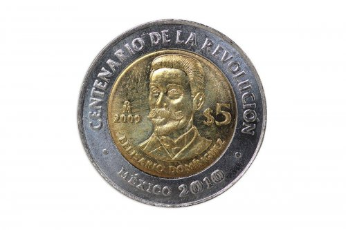 Mexico 5 Pesos, 2009, KM# 918,Mint,Centenary Revolution Coin-Belisario Dominguez