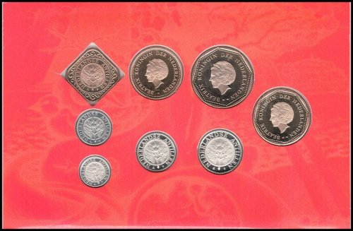 Netherlands Antilles 1 Cent - 5 Gulden 8 Piece Full Coin Set, 2006,Mint,Painters