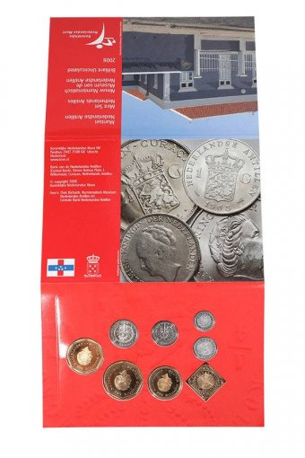 Netherlands Antilles 1 Cent - 5 Gulden 8 Piece Full Coin Set, 2008, Mint, Museum
