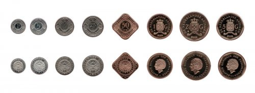 Netherlands Antilles 1 Cent - 5 Gulden 8 Piece Full Coin Set, 2009, Mint, Music