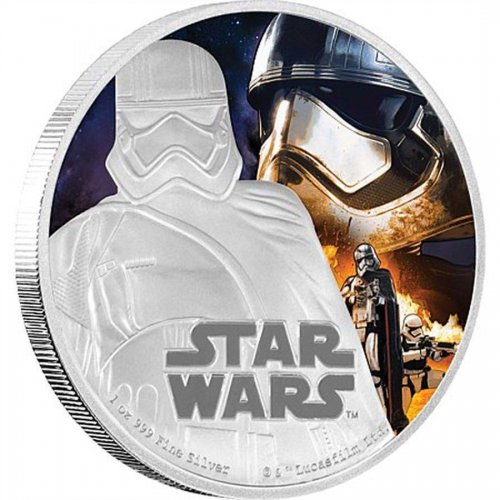 Niue Disney Star Wars $2, 1 oz Silver Coin,2016,The Force Awakens-Captain Phasma