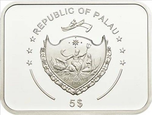 Palau $5 Dollars,20 g Silver Proof Coin, 2011,Grand Opera's Production of Carmen