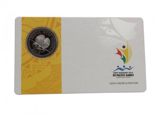 Papua New Guinea 1 Kina, 2015, Mint, Commemorative Port Moresby XV Pacific Games
