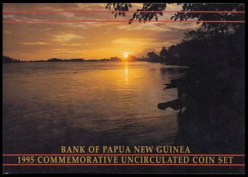 Papua New Guinea 1 Toea to 1 Kina 6 Pieces (PCS) Coin Set, 1995,20th Anniversary