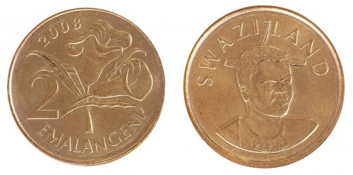 Swaziland 5 Cents - 5 Emalangeni 6 Pieces - PCS Coin Set, 1999 - 2008, Mint