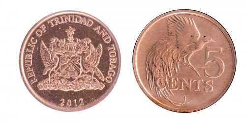 Trinidad & Tobago 1 Cent - 1 Dollar 6 Coin Set, 1979-2012,KM # 29-33,Mint,Holder
