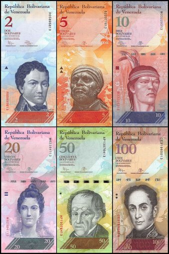 Venezuela 2 - 100,000 Bolivares 21 Pieces - PCS Full Set, 2007- 2018, UNC
