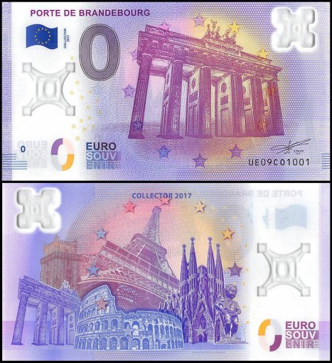 Zero (0) Euro 15 PCS Full Set, 2017, UNC,Polymer Banknote w/ Matching Serial Set