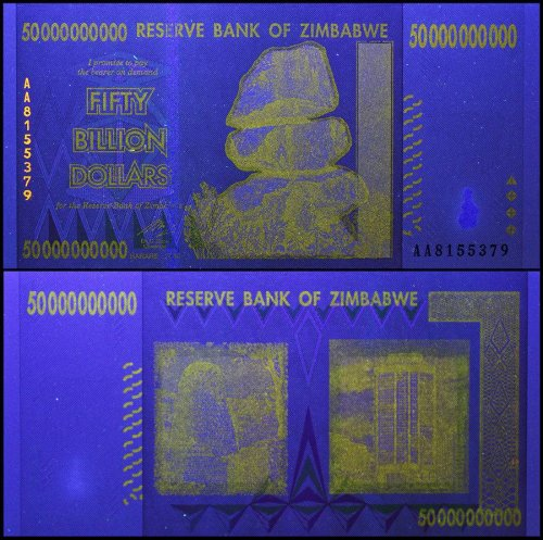 Zimbabwe 50 Billion Dollars Banknote, 2008, P-87, USED, 50 & 100 Trillion Series