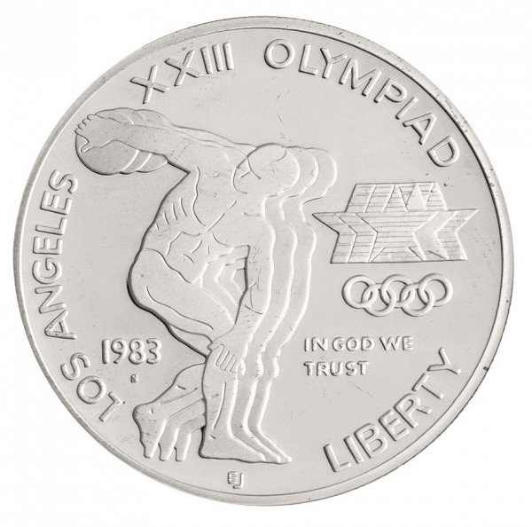 1983-S XXIII Olympiad Los Angeles $1 Silver Commem (In Capsule)