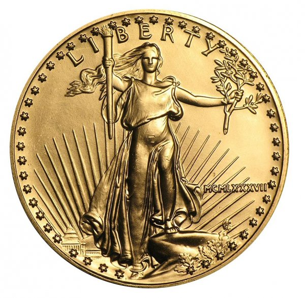 1987 1 oz Gold American Eagle BU