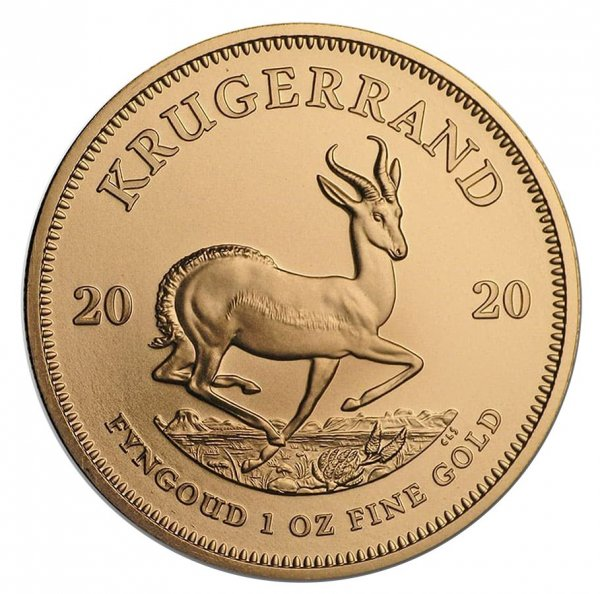 2020 South Africa 1 oz Gold Krugerrand BU