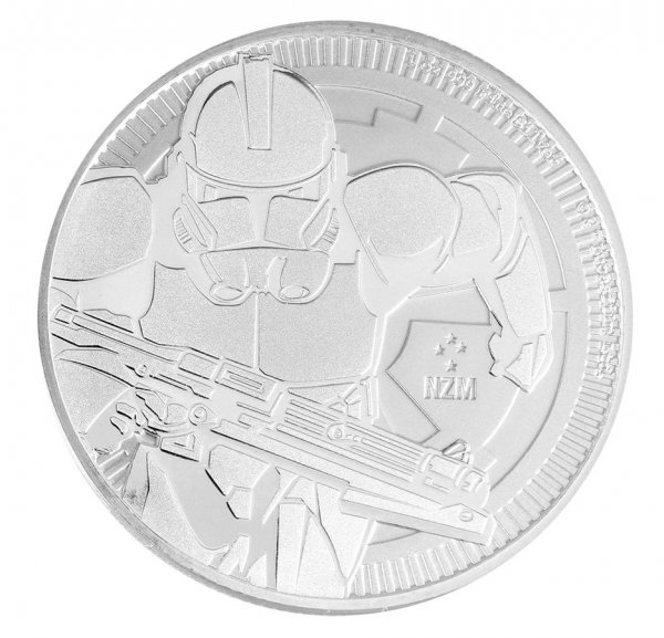 2019 Nuie 1 oz Silver $2 Star Wars: Clone Trooper BU